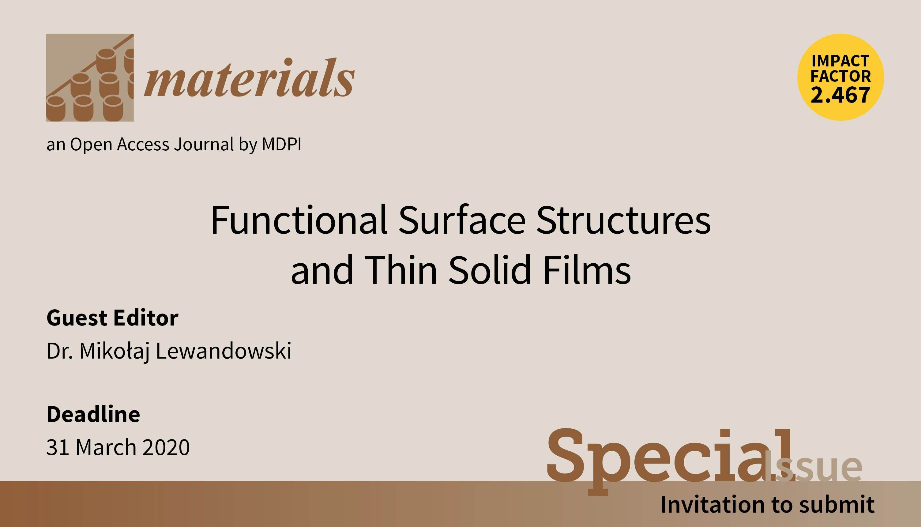Materials Special Issue